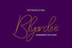 Bilyardeis - Handwritten Font Product Image 1