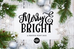 MERRY & BRIGHT a Festive Christmas Font Duo Product Image 1