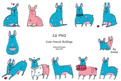 French Bulldogs - sticker pack Product Image 2