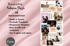 Instagram Puzzle Template Canva- Roseatte Product Image 2