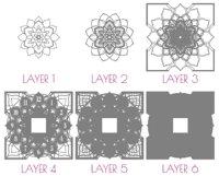 C16 - Laser Cut Wall Clock DXF, Mandala Clock, Wooden Clock Product Image 8