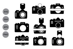 Camera svg, camera monogram Svg, photography svg, photograph Product Image 2