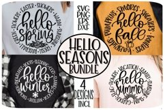 HELLO SEASONS- FALL SPRING SUMMER WINTER - SVG PNG EPS DXF Product Image 6