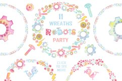 Watercolor Robots Party Product Image 3