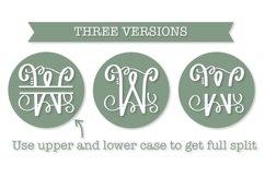 Split Fancy Monogram Trio - Clean & Hand Lettered! Product Image 2