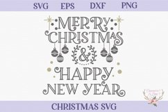 Christmas SVG - Merry Christmas and Happy New Year Product Image 2