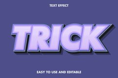 Trick text effect. editable and easy to use. premium vector Product Image 1