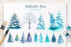 Winter. Watercolor collection. Product Image 13