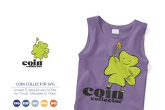 Coin Collector SVG | Clover SVG | Luck Product Image 1