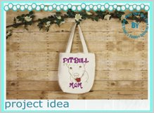 Dog Mom American terrier line art animal lover quote design Product Image 2