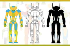 Funny robots. Coloring. Product Image 3