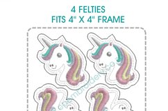 Unicorn Head Feltie Grouped Layouts Design Product Image 3