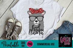 Bad Mama Llama Sublimation Printable Product Image 1