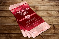 Red Hearts Valentines Gala Ticket Template Product Image 5