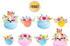 Happy fox watercolor clip art Product Image 5