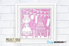Happy Birthday princess paper cut design Product Image 4