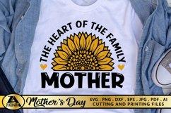 Mothers Day SVG PNG EPS DXF MOTHER SVG Mom Sunflower SVG Product Image 1