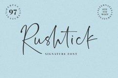 Rushtick Signature Font Product Image 1