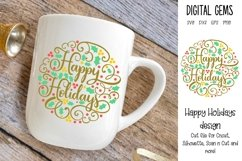 Happy Holidays, Christmas SVG / PNG / EPS / DXF files Product Image 1