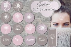 Pastel Flower instagram highlight icons, trendy stories Product Image 1