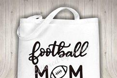 Football mom SVG - sports mom SVG file, handlettered Product Image 3