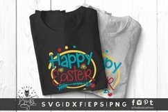 Happy Easter SVG | Easter Cut File | Easter Flowers SVG Product Image 3