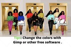 Afro lady Clip art, Big sis bundle, black girl, Afro clipart Product Image 4