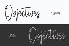 Objectives SVG Brush Font Product Image 3