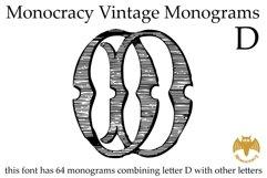 Monocracy Vintage Monograms D Product Image 1