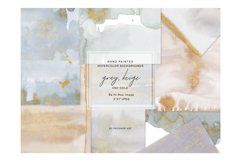 Watercolor Glittered Gray & Beige Background 5x7 Product Image 4