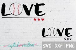Love Baseball SVG, DXF, PNG Product Image 2
