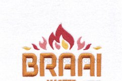 Braai BBQ Master Flamed Embroidery Download Design Product Image 6