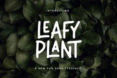 Leafy Plant Typeface Product Image 1