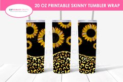 7 Sunflower 20 Oz. Skinny Tumbler Sublimation Bundle Product Image 2