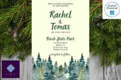 Watercolor Wooded Forest Wedding Invitation Product Image 9