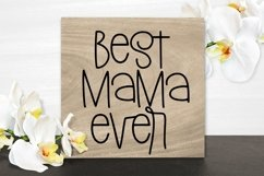 Web Font Mother's Day - A Silly Hand-Lettered Font Product Image 3