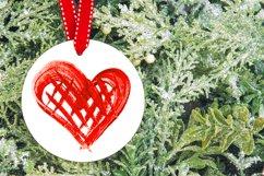 Round Christmas Ornament mock up Christmas decoration Product Image 2
