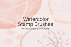 Watercolor Stamp Brushes Product Image 1