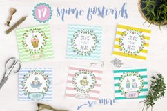 Cute birds, flowers, frames and lettering Product Image 2