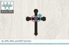 Wedding SVG - Wedding Cross Product Image 2
