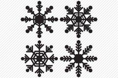 Snowflake Bundle SVG, Cut File, Christmas Shirt Designs Product Image 2