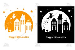 Halloween Clipart, Silhouette SVG JPG PNG EPS10 Product Image 2