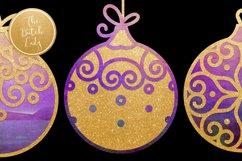 Christmas Balls Ornament Clipart Set Product Image 3