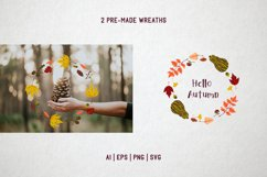 Hello autumn. Collection of vector elements and pattern Product Image 3