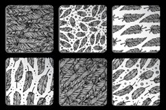 Black and white seamless patterns set Product Image 3
