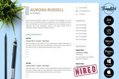 Legal Resume CV Template for Word & Pages Aurora Russell Product Image 1