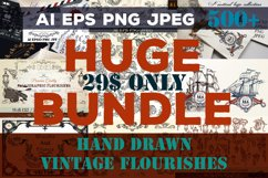 Huge vector flourishes Bundle! More than 500 elements Product Image 1
