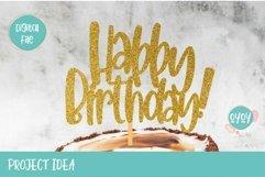 Cake Topper Bundle SVG | Happy Birthday SVG Bundle Product Image 6