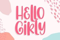 Hello Girly - a Girly Handdrawn Font Product Image 1