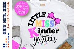 Little miss Kindergarten svg Back to school svg Teacher svg Product Image 1
